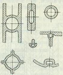 一般气体辅助注射成型件的截面形状